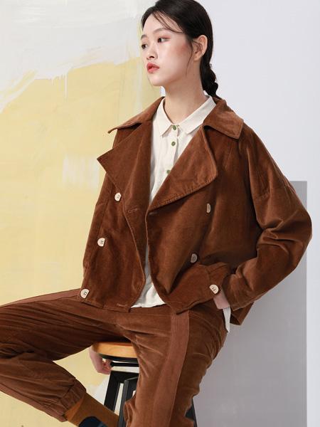 BUKHARA布卡拉女装品牌2020秋季棕褐色西装款式西装套装