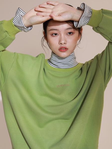 BUKHARA布卡拉女装品牌2020秋季绿色卫衣