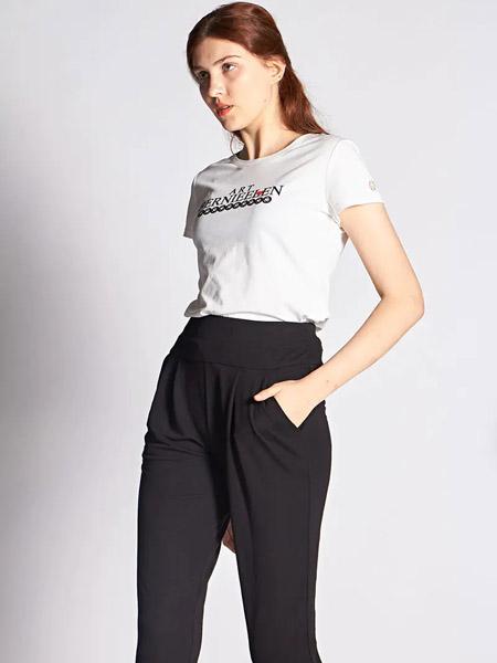 伯妮斯茵ERNIEELEN女装品牌2020春夏针织 合身 高弹白T恤