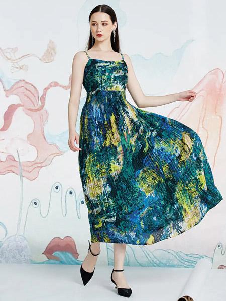 伯妮斯茵ERNIEELEN女装品牌2020春夏连衣裙华容婀娜--《洛神赋》
