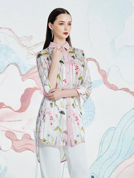 伯妮斯茵ERNIEELEN女装品牌2020春夏衬衣--秣驷芝田--《洛神赋》