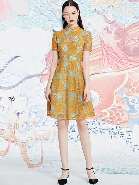 伯妮斯茵ERNIEELEN女装品牌2020春夏连衣裙--芙蕖渌波--《洛神赋》
