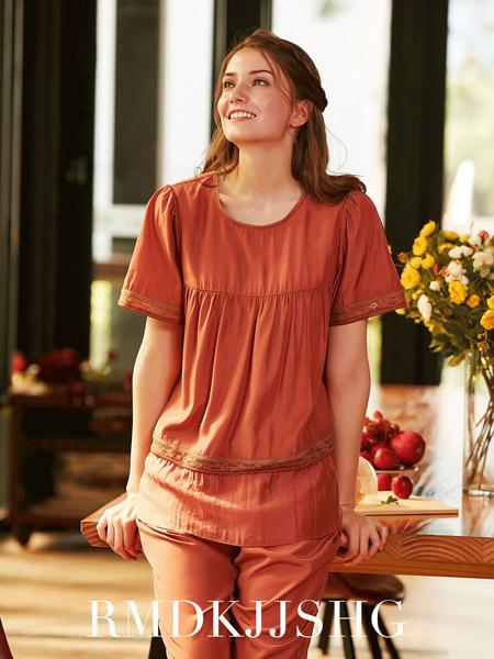 诺曼蒂克女装品牌2020春夏圆领红色套装