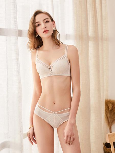 狄朵娜内衣品牌2020春夏白色文胸套装