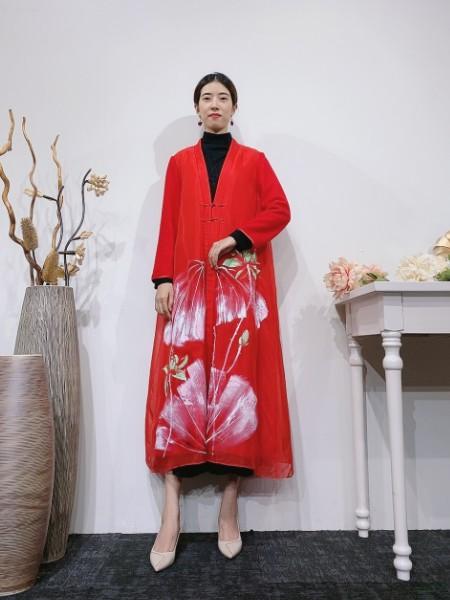 深圳专柜高端品牌【遇见天】原创风女装 棉麻丝天然面料