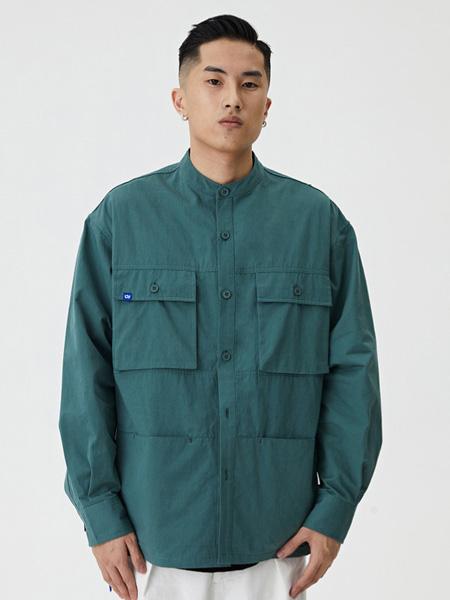 WASSUP男装品牌2020春夏青色长袖衬衫