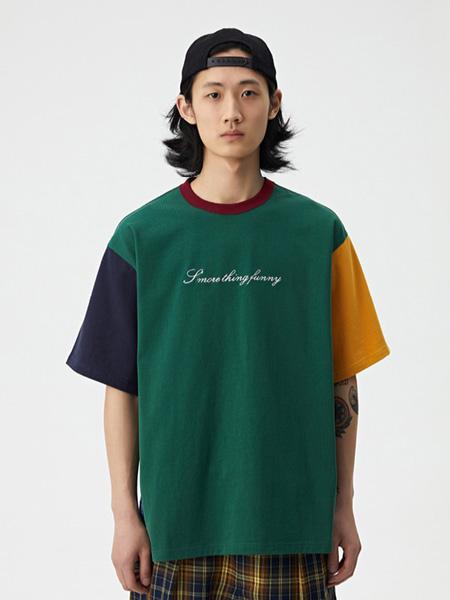 WASSUP男装品牌2020春夏字母青色T恤
