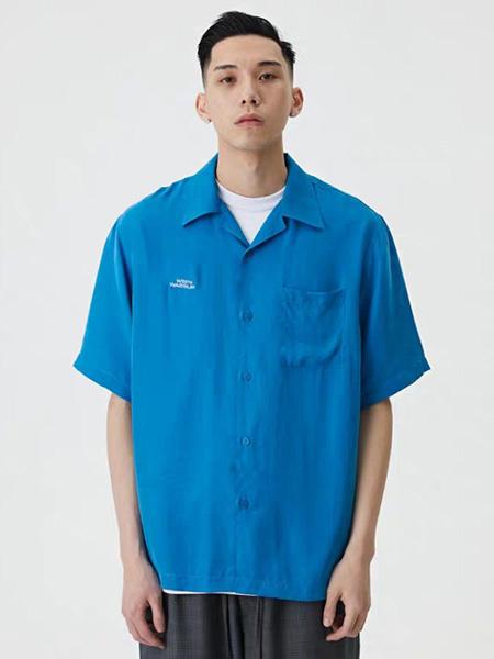 WASSUP男装品牌2020春夏深蓝色衬衫