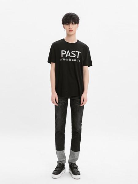 M-77男装品牌2020春夏字母黑色T恤