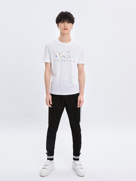 M-77男装品牌2020春夏字母白色T恤