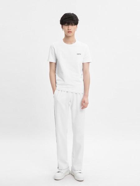 M-77男装品牌2020春夏圆领白色T恤