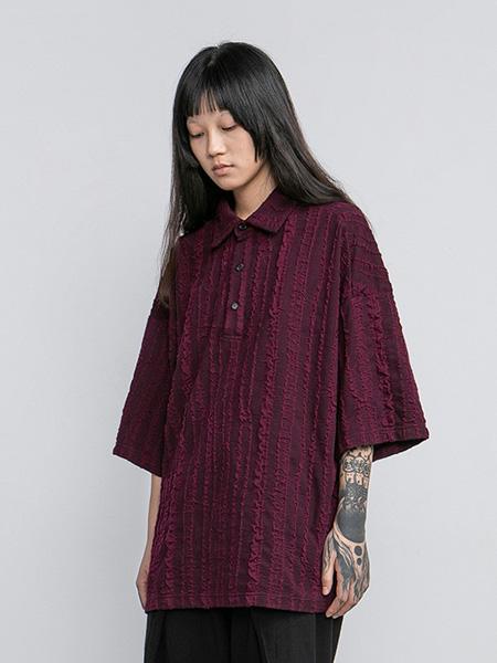 CONPCONP女装品牌2020春夏翻领红色衬衫