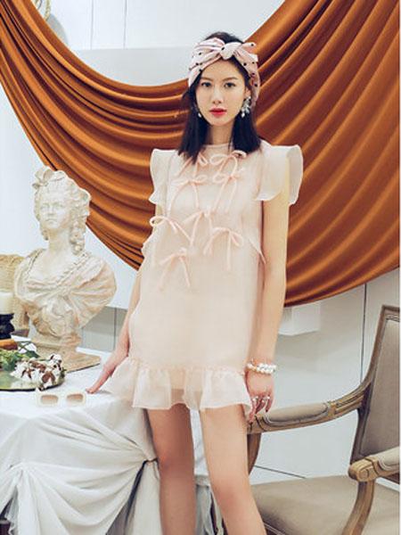 N-ONE女装品牌2020春夏2020夏设计荷叶边连衣裙短裙裙子S