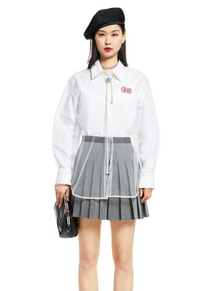 N-ONE女装品牌2020春夏新品纯色长袖薄款衬衫女上衣