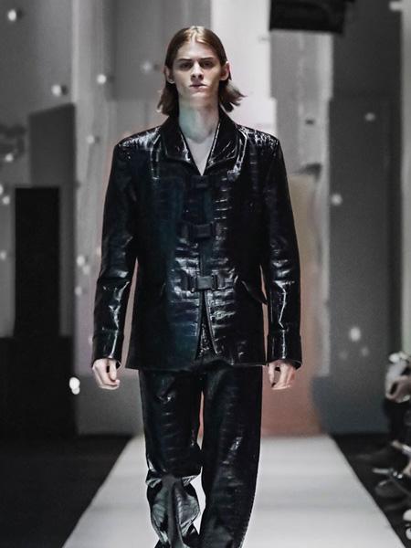 JTKZHENG男装品牌2020春夏皮面黑色外套