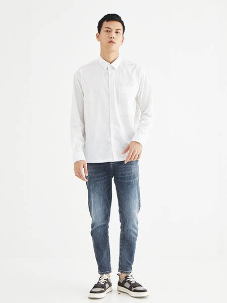 4CM肆厘米男装品牌2020秋季日系男生白衬衣