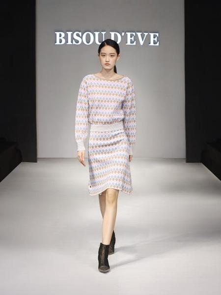 碧淑黛芙女装品牌2020秋季圆领针织衫毛衣