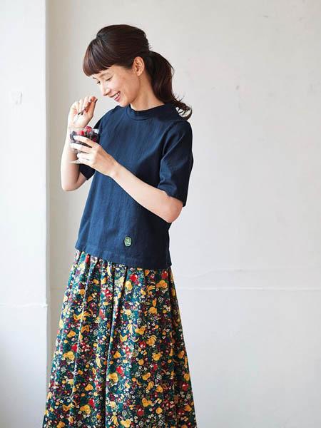 芬理希梦女装品牌2020春夏纯棉显瘦T恤