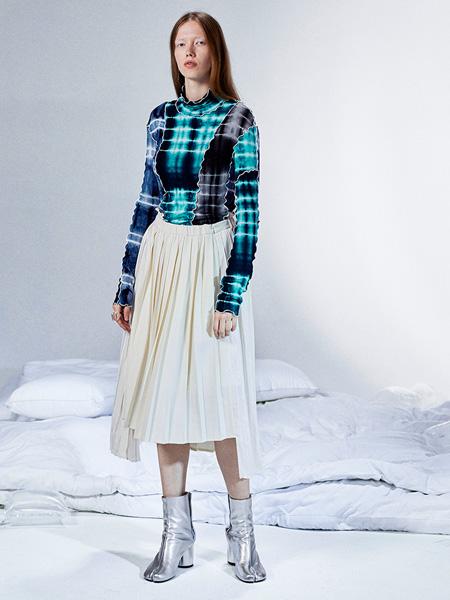 半圆女装品牌2020秋季新款长袖修身针织内搭打底衫T恤