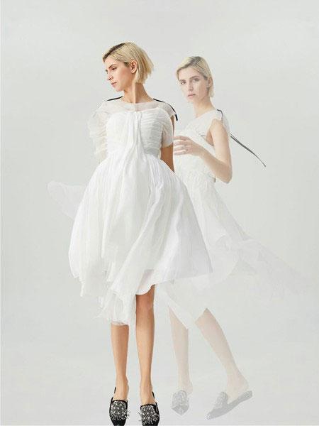 WEN&VI女装品牌2020春夏文艺范雪纺连衣裙