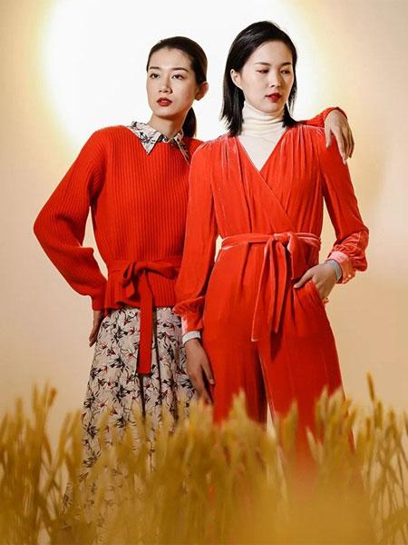 李爱木子LAMZ女装品牌2020春夏休闲橘色长款外套