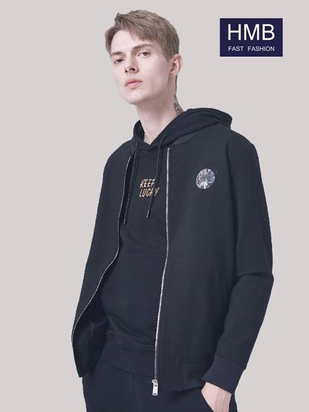 HMB男装品牌2020秋季圆领飞行夹克衫