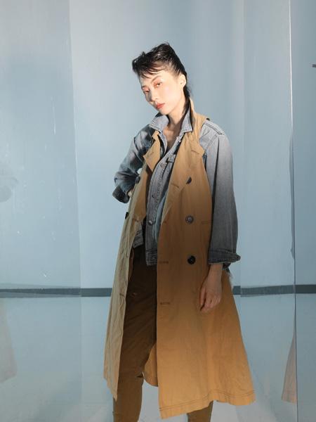 AttinaLife阿缇娜女装品牌2020秋季卡其色中长款风衣外套