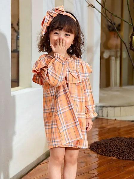 小鬼当家/米其仔童装品牌2020秋冬甜美可爱连衣裙