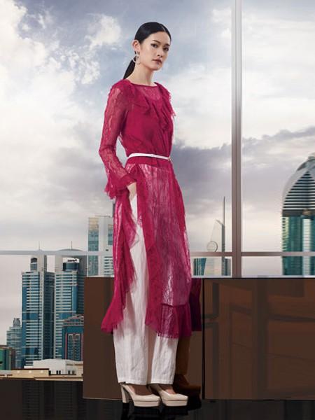 Bonvier女装品牌2020秋冬长款网纱长袖
