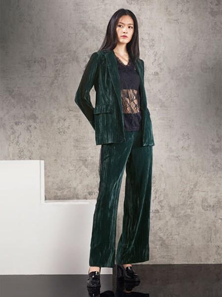 Bonvier女装品牌2020秋冬蕾丝复古西装套装