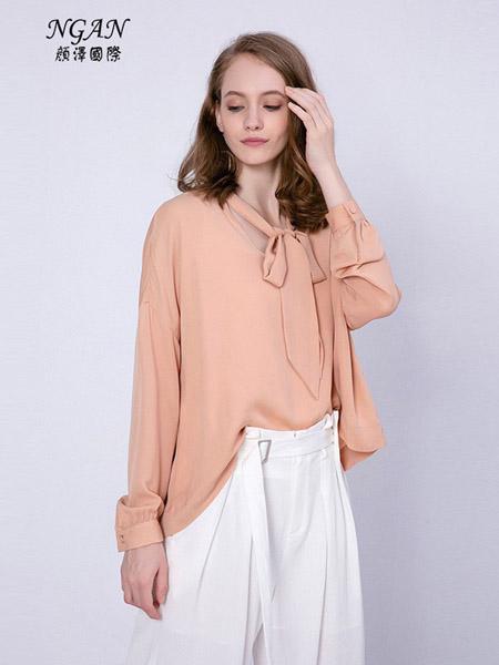 颜泽NGAN女装品牌2020春夏雪纺长袖衬衫