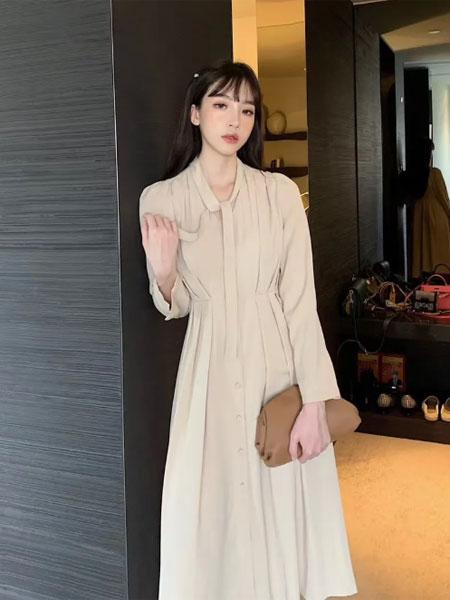 苏柒女装品牌2020秋冬韩版淑女连衣裙