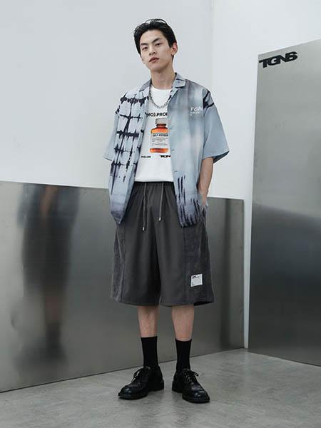 TGNS男装品牌2020春夏复古重金属潮流衬衫