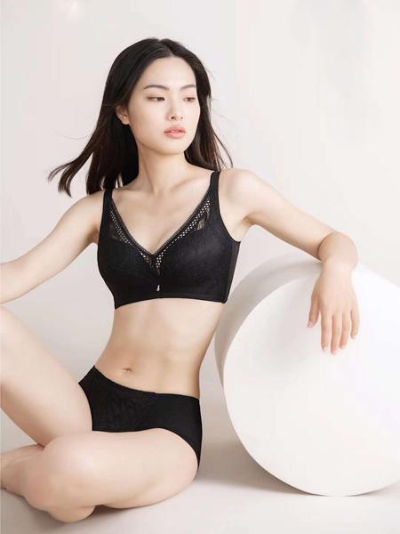俏丹娜内衣品牌2020秋冬黑色文胸套装