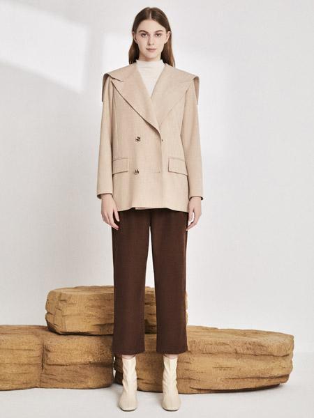 你即永恒女装品牌2020秋季肤色西装外套荷叶领