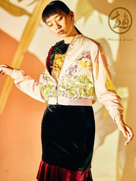 趙贝勒PRINCE ZHAO女装品牌2020春夏浅粉色外套