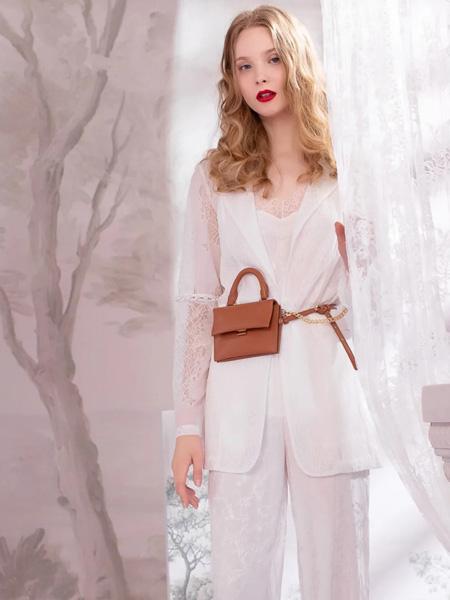 欧点OU.女装品牌2020秋季白色西装外套长裤