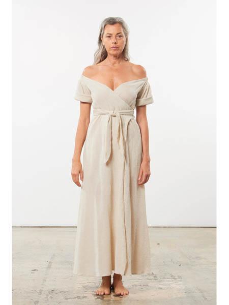 marahoffman国际品牌v领性感长裙连衣裙