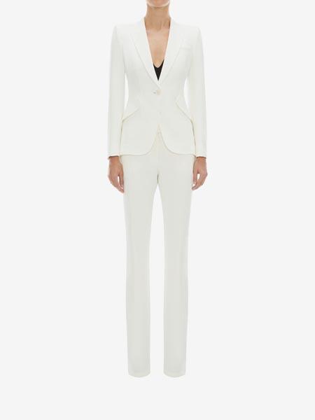 alexandermcqueen国际品牌树叶绉绸半裙