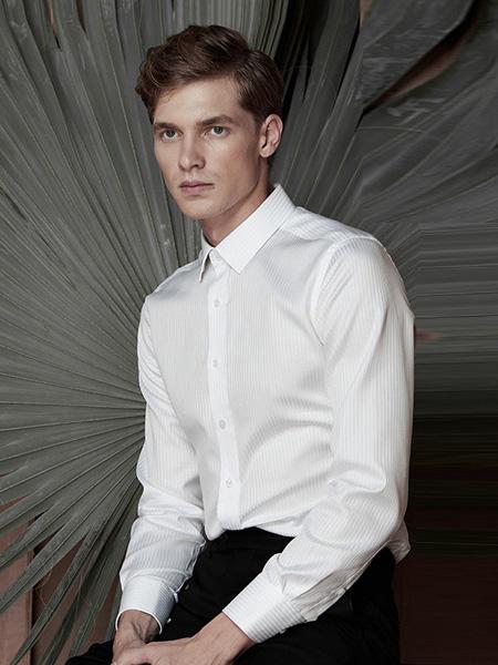 芙莱克斯男装品牌2020春夏白色翻领衬衫