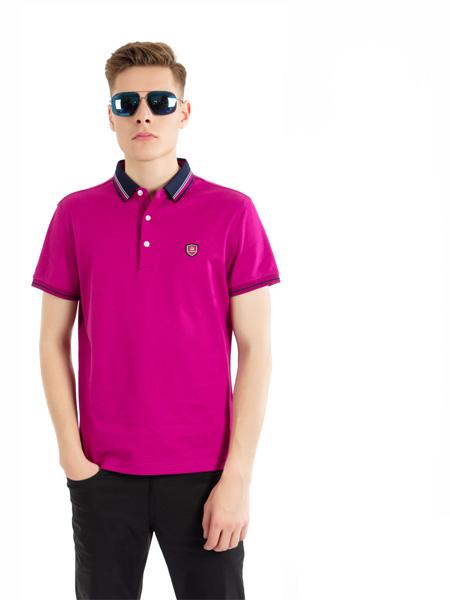 雷迪波尔男装品牌2020春夏紫红色T恤