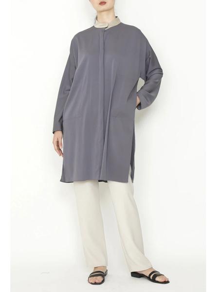 yeohlee国际品牌丝绸长款开衫外套
