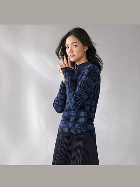 日神女装品牌Sungod日神羊绒衫女秋冬新款圆领长袖套头衫薄款修身打底毛衣