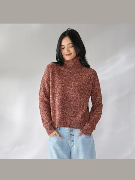 日神女装品牌日神羊绒衫女秋冬新款加厚保暖针织套头宽松时尚打底纯羊绒毛衣