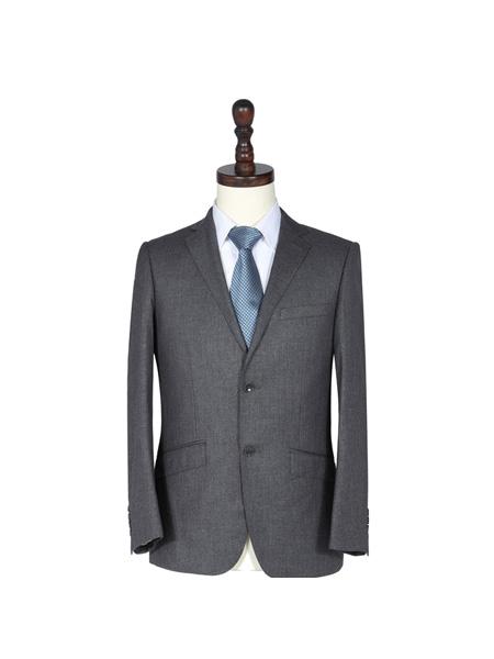 戴威男装品牌2020春夏灰色成熟商务西装