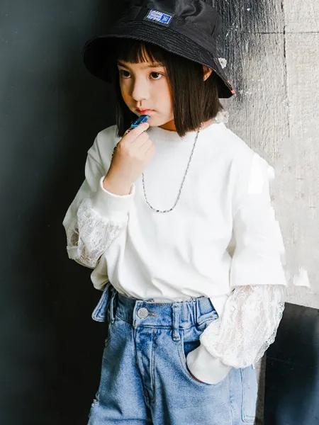 卡琪屋童装品牌2020秋季长袖米色卫衣
