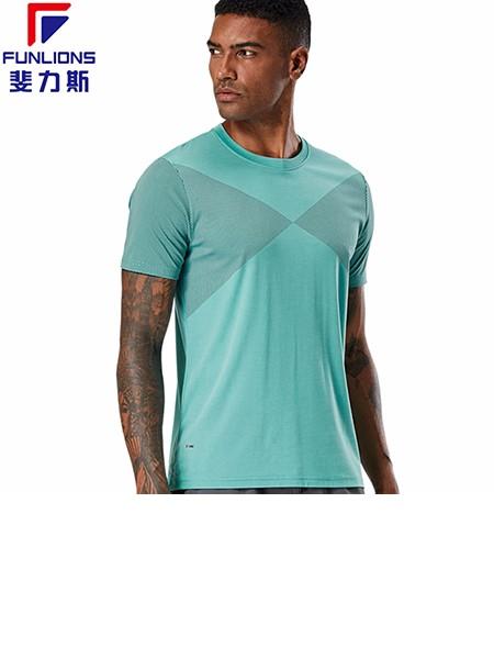 斐力斯F1054男士运动休闲短袖圆领T恤