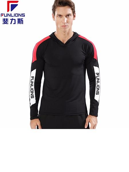 斐力斯F71男士运动休闲连帽长袖T恤