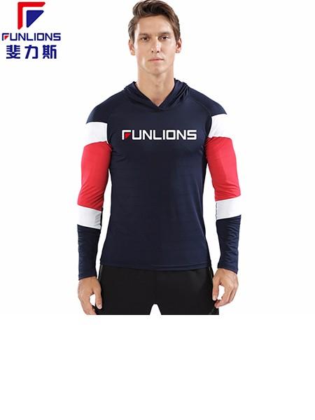 斐力斯F72男士运动休闲连帽长袖T恤