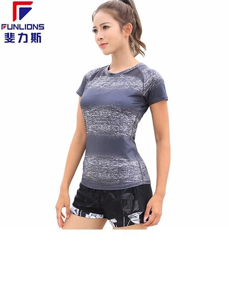 斐力斯F1013女士运动健身休闲短袖T恤
